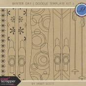 Winter Day- Doodle Template Kit 2