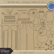 Winter Day- Doodle Template Kit 3