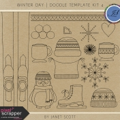 Winter Day- Doodle Template Kit 4
