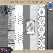 Winter Fun- Template Kit