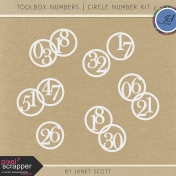 Toolbox Numbers- Circle Number Template Kit 2