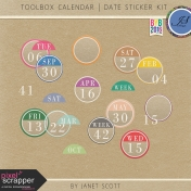 Toolbox Calendar- Date Sticker Kit