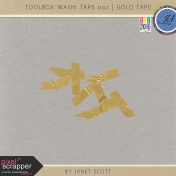 Toolbox Washi Tape 002- Gold Tape Kit