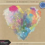 Raindrops & Rainbows- Paint Kit