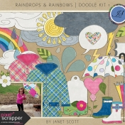 Raindrops & Rainbows- Doodle Kit 1