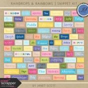 Raindrops & Rainbows- Snippet Kit