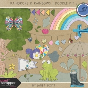 Raindrops & Rainbows- Doodle Kit 2