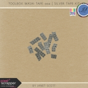 Toolbox Washi Tape 004- Silver Tape Kit