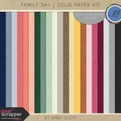 Family Day- Solid Paper Kit