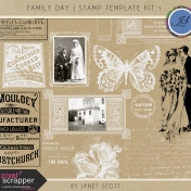 Family Day- Stamp Template Kit 1