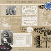 Family Day- Stamp Template Kit 2