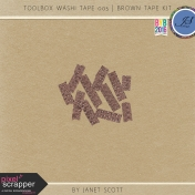 Toolbox Washi Tape 005- Brown Tape Kit