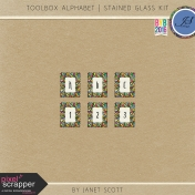 Toolbox Alphabet- Stained Glass Kit