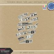 Toolbox Washi Tape 006- Antique Tape Kit