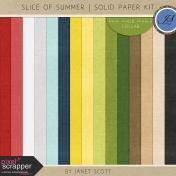 Slice of Summer- Solid Paper Kit