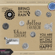 Raindrops & Rainbows- Element Template Kit