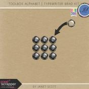 Toolbox Alphabet- Typewriter Brad Kit