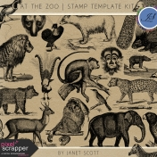 At the Zoo- Stamp Template Kit