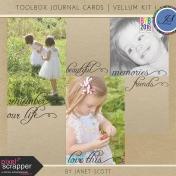 Toolbox Journal Cards- Vellum Kit 1