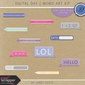 Digital Day- Word Art Kit