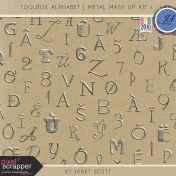 Toolbox Alphabet- Metal Mash Up Kit 1