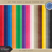At the Zoo- Solid Paper Kit