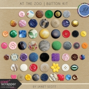 At the Zoo- Button Kit