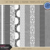 At The Zoo - Overlay Template Kit