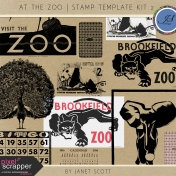 At The Zoo- Stamp Template Kit 2