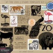 At the Zoo- Stamp Template Kit 3