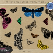 At The Zoo- Stamp Template Kit 4