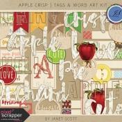 Apple Crisp- Word Art Kit