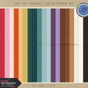 Day of Thanks- Solid Paper Kit