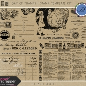 Day of Thanks - Stamp Template Kit 1