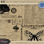 Day of Thanks- Stamp Template Kit 3