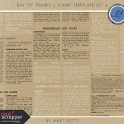 Day of Thanks- Stamp Template Kit 4