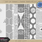 Day of Thanks- Paper Template Kit