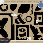 Day of Thanks- Shape Mask Template Kit