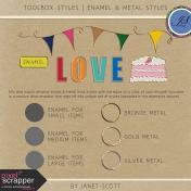 Toolbox Styles 002- Enamel & Metal Style Kit