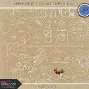 Apple Crisp- Doodle Template Kit 1