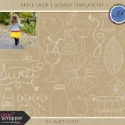 Apple Crisp- Doodle Template Kit 2