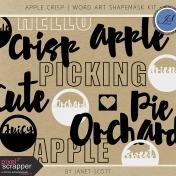 Apple Crisp- Word Art Shapemask Template Kit