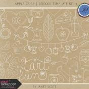 Apple Crisp- Doodle Template Kit 3