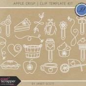 Apple Crisp- Clip Doodle Template Kit
