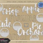 Apple Crisp- Word Art Template Kit