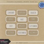 Toolbox Calendar- Month Ticket Kit