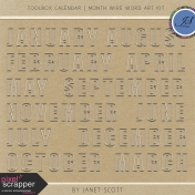 Toolbox Calendar- Month Wire Word Art Kit