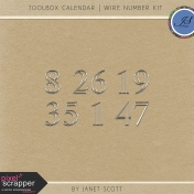 Toolbox Calendar- Wire Number Kit