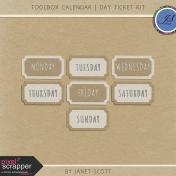 Toolbox Calendar- Day Ticket Kit