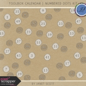 Toolbox Calendar- Numbered Dots Kit